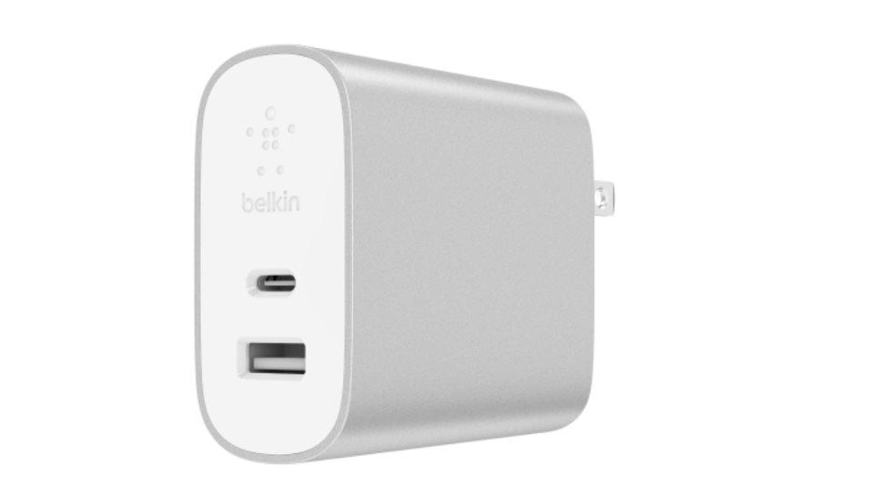 Belkin USB-C 230V nabíječka 27W, Power Delivery stříbrná
