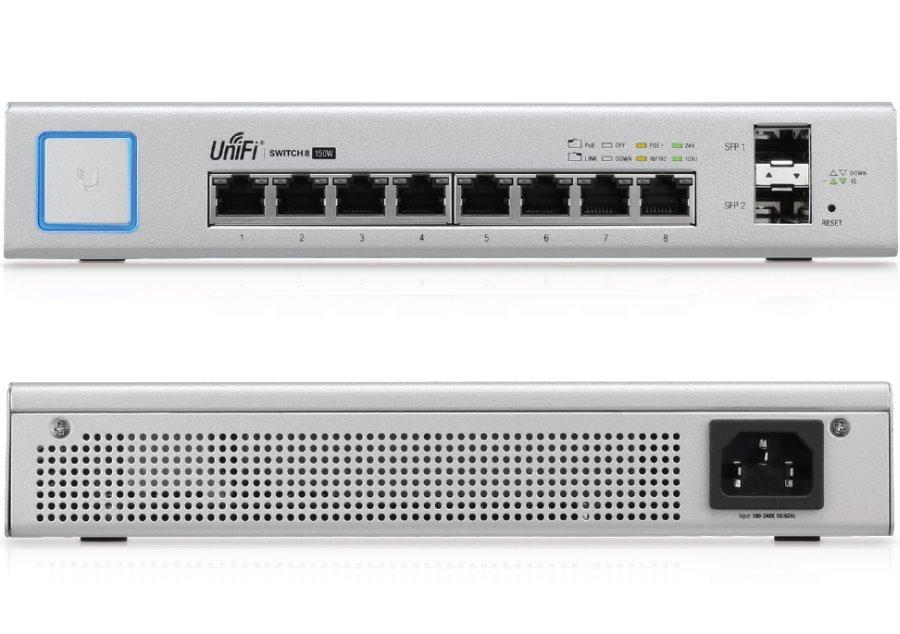 Ubiquiti UniFiSwitch US-8-150W - UniFi Switch, 8 ports, 150W