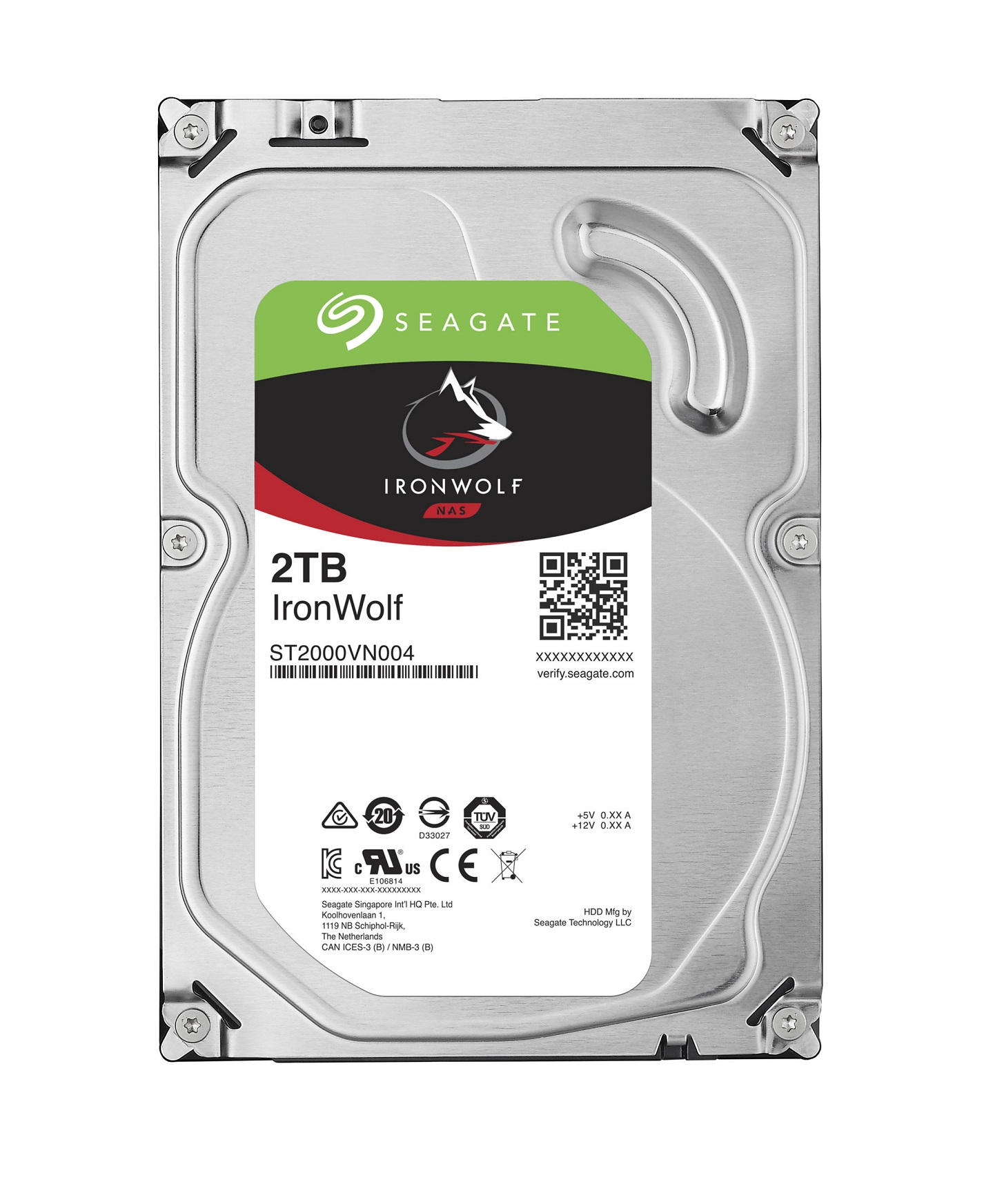 "Seagate IronWolf, NAS HDD, 2TB, 3.5"", SATAIII, 64MB cache, 5.900RPM"