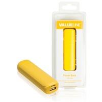 VÝPRODEJ - Valueline powerbank, 2 200 mAh, 5 V, 1 A, žlutý - VL2200PB001YE
