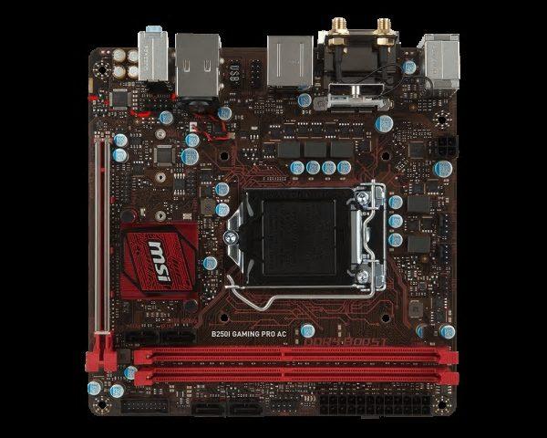 MSI B250I GAMING PRO AC, LGA1151,2xDDR4, 1xM.2, 4xSATA3