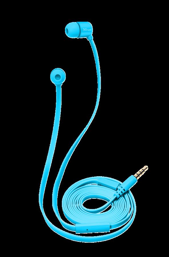 sluchátka do uší TRUST Duga In-Ear- neon blue