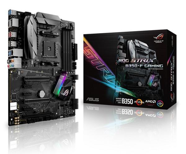ASUS ROG STRIX B350-F GAMING, AM4 B350 ATX, DDR4 3200MHz,M.2, SATA 6Gbps, USB3.1