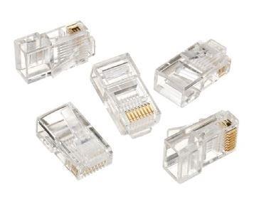 Gembird LAN modulární konektor 8P8C pro pevný kabel kat. 5e, 30U'' (10ks)
