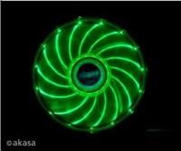přídavný ventilátor Akasa Vegas LED 12 cm zelená