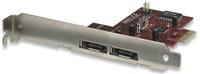 MANHATTAN SATA 3 Gb/s RAID PCI Express Card, Two external ports, eSATA