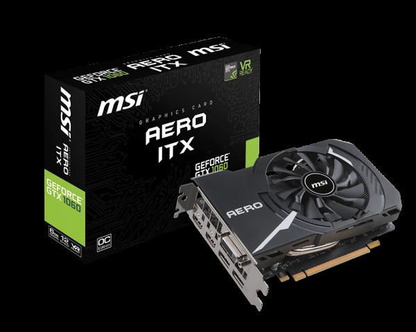 MSI GeForce GTX 1060 AERO ITX 6G, 6GB GDDR5, DP/HDMI/DVI