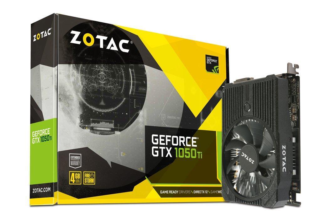 ZOTAC GeForce GTX 1050 Ti Mini 128bit 4GB GDDR5 DVI-D, HDMI, Display Port 1.4