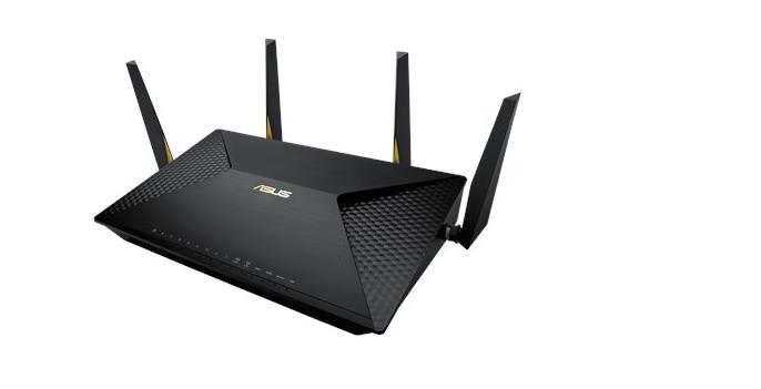 ASUS BRT-AC828 Gigabit Dual-WAN VPN Wireless AC2600 Router, 2x gigabit WAN, 8x gigabit RJ45, 2x USB3.0, 1x M.2 SATA