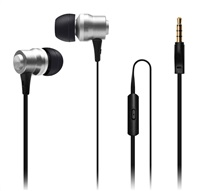CONNECT IT Alu Sonics sluchátka do uší EP-223-SL s mikrofonem, 4 pin, stříbrná