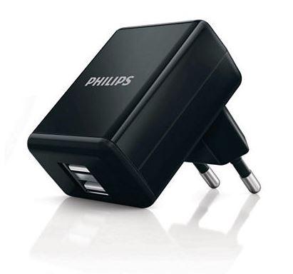Philips USB nabíječka síťová DLP2209 - 5V/1A, duální