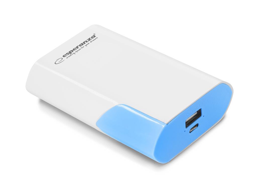 Esperanza EMP111WB BOSON externí baterie 6000mAh, bílo-modrá