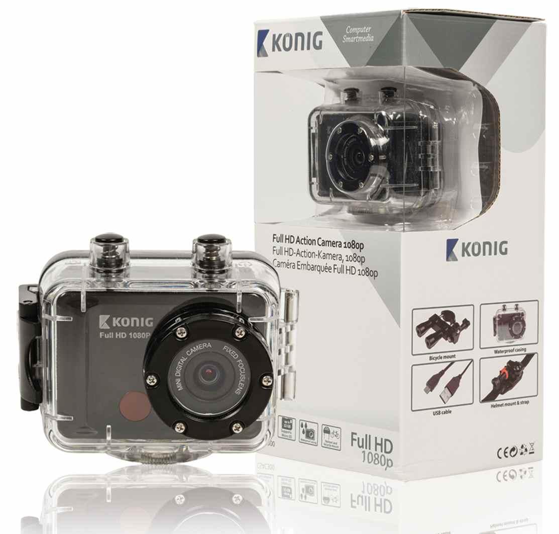 VÝPRODEJ - KÖNIG Akční Full HD kamera 1080p, vodotěsná - CSAC300