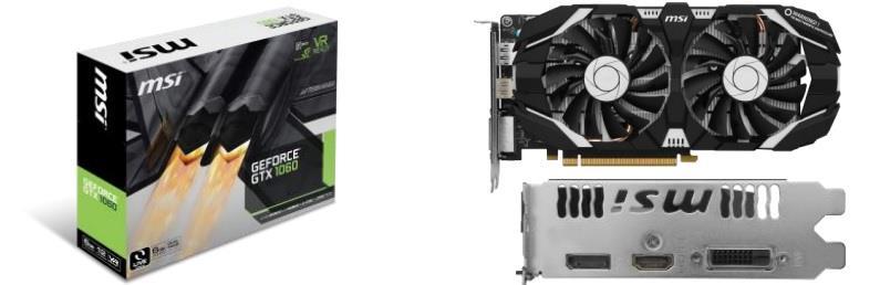 MSI GeForce GTX 1060 6GT V1, 6GB GDDR5 (192 Bit), HDMI, DVI, DP