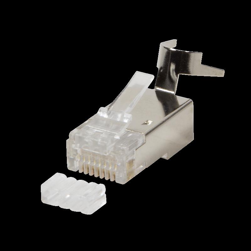 LOGILINK - Modular Plug Cat.6A RJ45 for Cat7,Cat.6A, Cat.6 cable 50 pcs