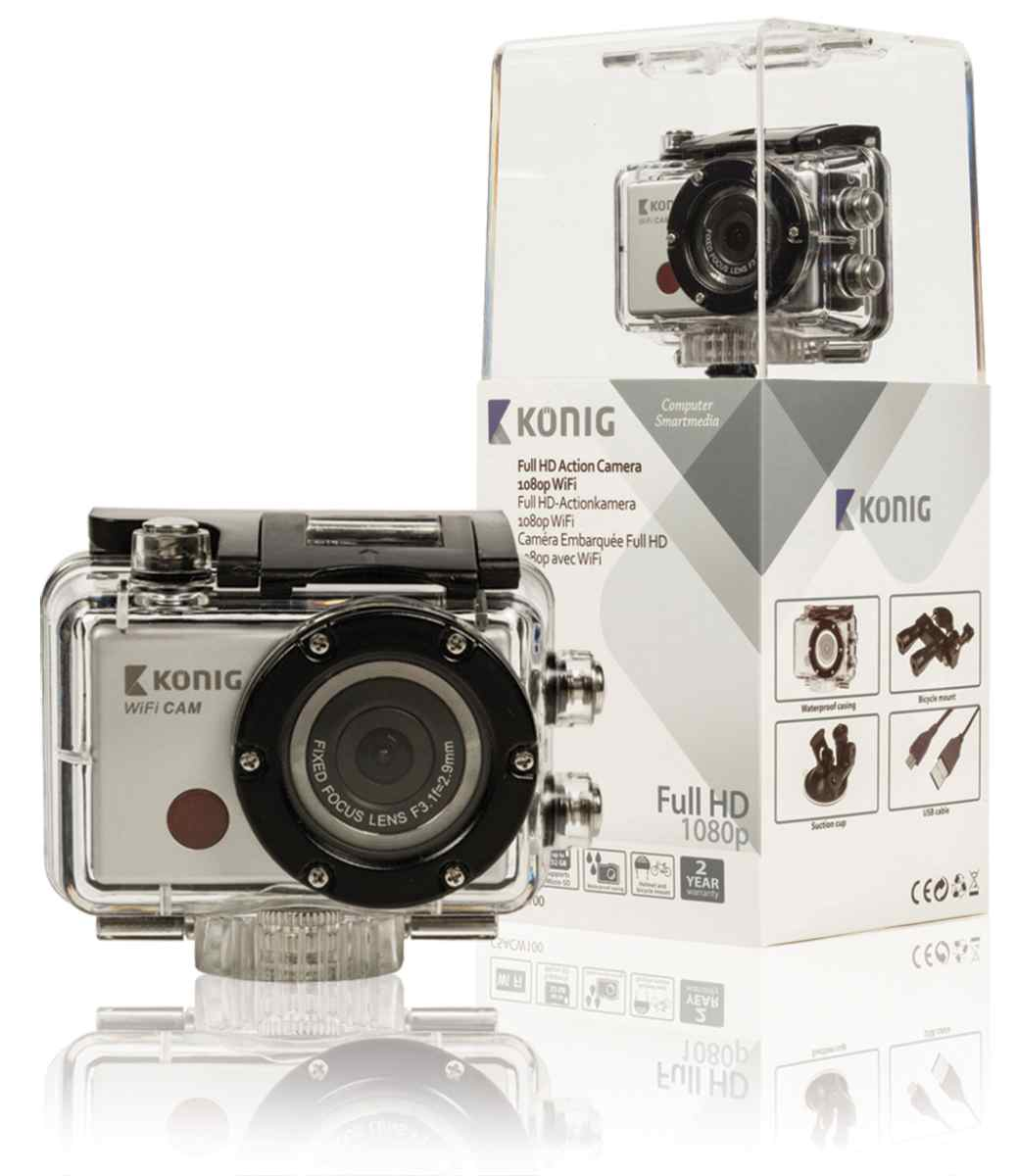 Koenig Full HD action camera 1080p waterproof WiFi