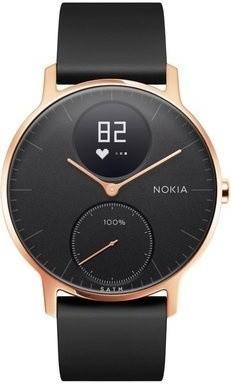 Nokia Steel HR (36mm) Rose Gold w/ Black Silicone wristband