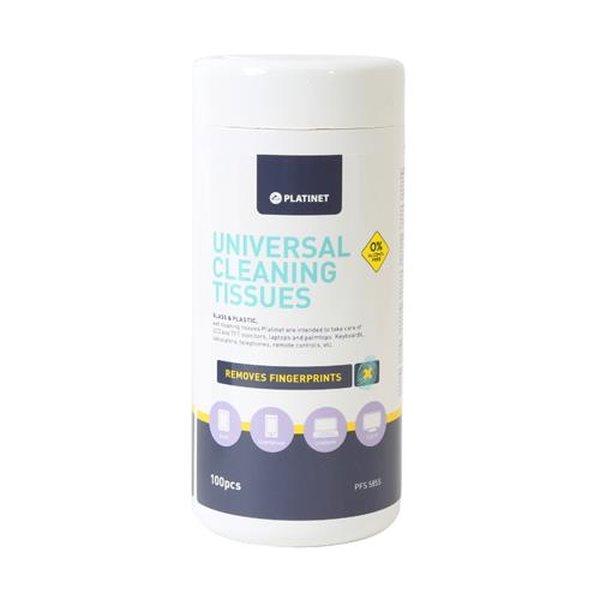 PLATINET Čisticí ubrousky na plasty a sklo - PFS5855