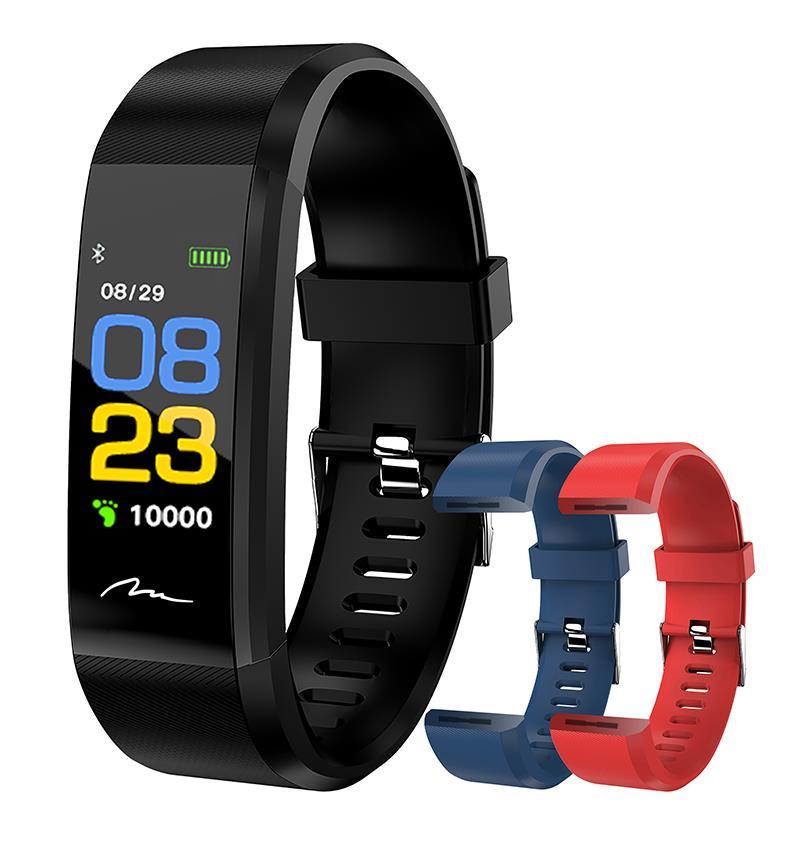ACTIVE-BAND COLOR -smartband, OLED color, BT 4.1, blood pressure, HR, IP67,black