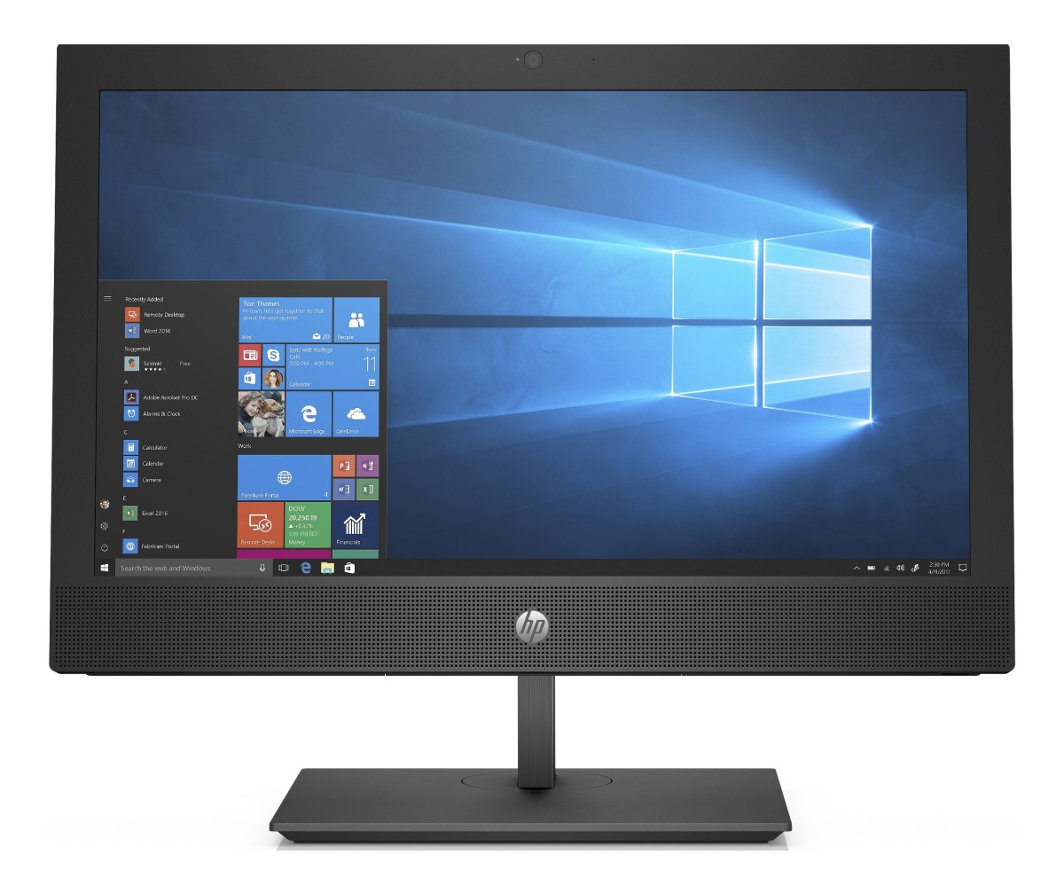 "HP ProOne 400 G4 / 20"" NT / Intel i3-8100T/4GB/500 GB HDD/Intel HD/ DVDRW/ SD MCR/Win 10 Pro"