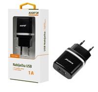 Aligator síťová nabíječka Turbo charge, USB výstup 1A, černá