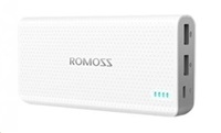 ROMOSS sense 15 PHP15 White Power Bank Capacity:15000mAh (Cell: Li-polymer) Input: DC5V 2.1A