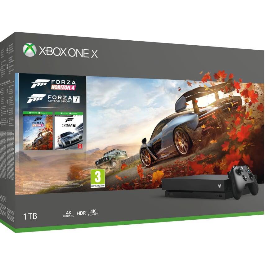 XBOX ONE X 1 TB + Forza Horizon 4 + Forza Motorsport 7