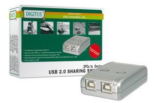 Digitus USB 2.0 Sharing Switch, 2 PC - 1 Device