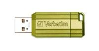 VERBATIM USB Flash Disk Store 'n' Go PinStripe 16GB - eukalyptově zelená