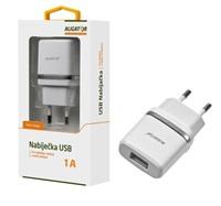 Aligator síťová nabíječka Turbo charge, USB výstup 1A, bílá