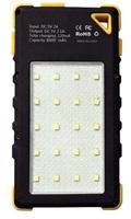 Viking solární outdoorová power banka Akula I 8000mAh Ultra Light, žlutá