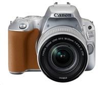 Canon EOS 200D zrcadlovka - tělo (stříbrné) + 18-55 IS STM
