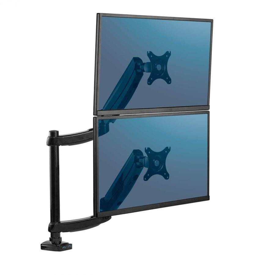 Fellowes - arm for 2 monitors upright - Platinum series