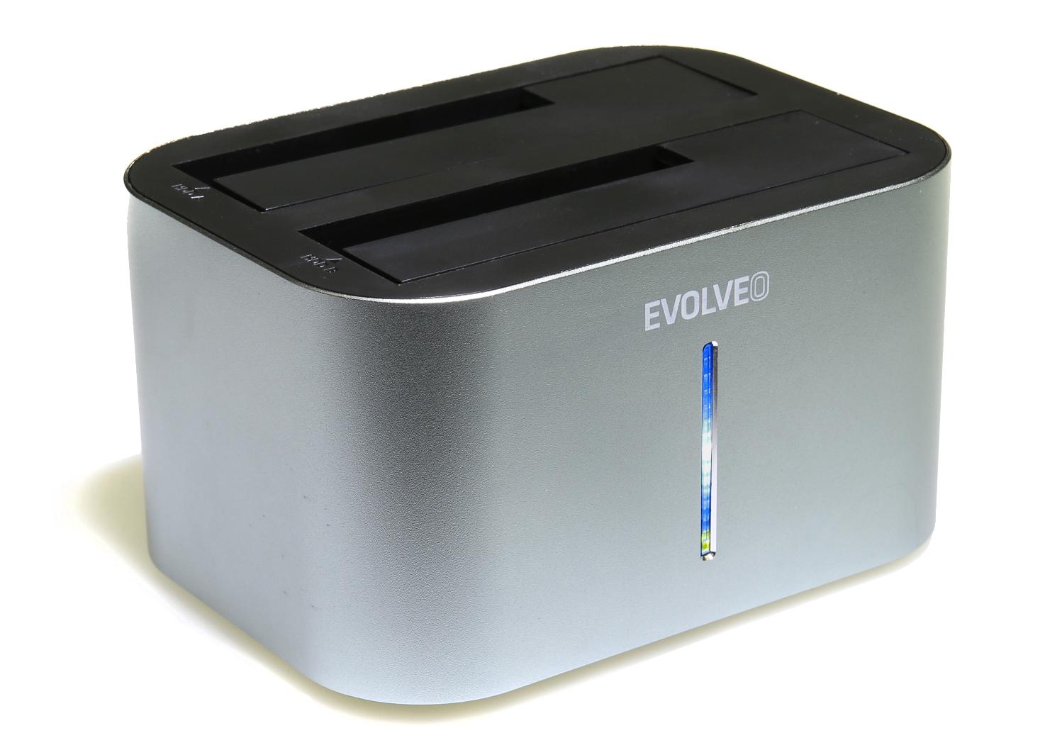 "EVOLVEO Dion 1 HDD dokovací stanice, USB 3.0, 2,5"" HDD, SDD a 3,5"" HDD"