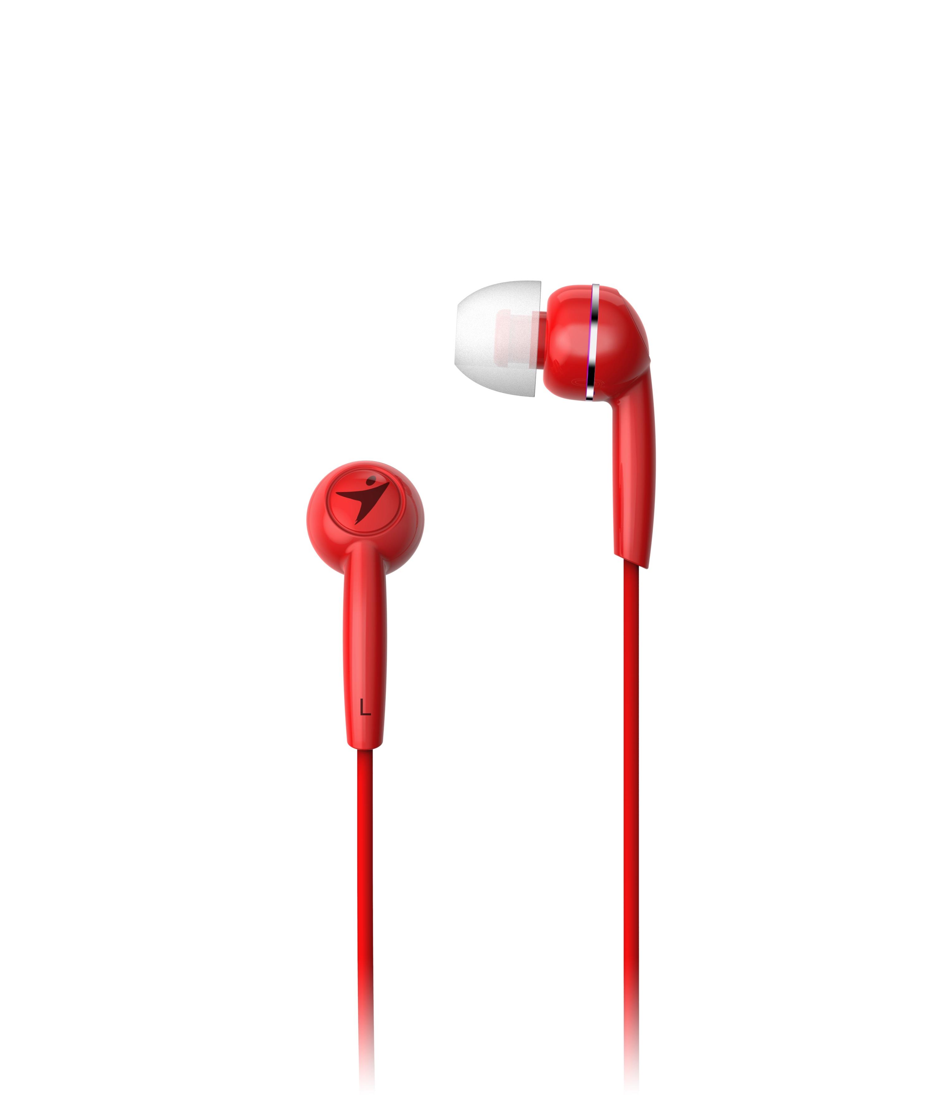 Sluchátka Genius HS-M320 mobile headset, red