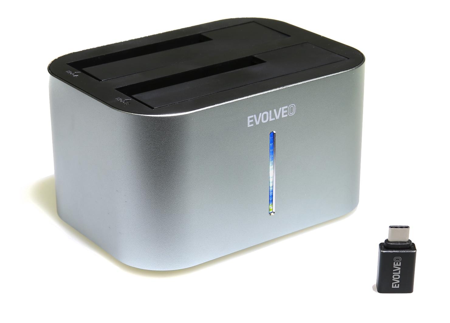 EVOLVEO Dion 2, 10Gb/s, dokovací stanice, USB 3.1 A + redukce USB A/USB C