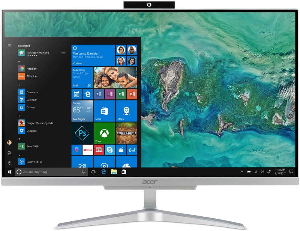 "Acer Aspire C24-865 ALL-IN-ONE 23,8"" LED FHD/ Intel Core i3-8130U /4GB/256GBB/ W10 Pro"
