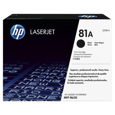 HP CF281A Toner 81A pro LaserJet M603 MFP (10 500str), Black