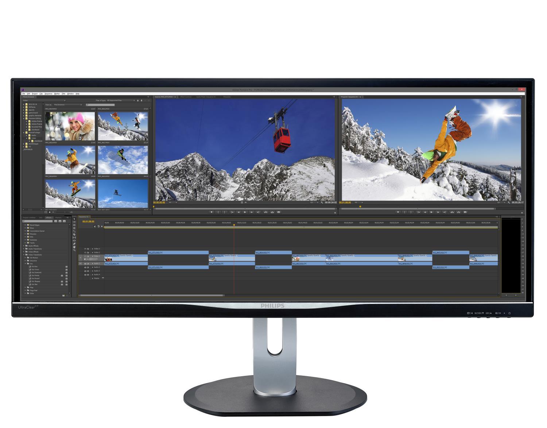 "Philips LCD BDM3470UP 34""wide/3440x1440/5ms/40mil:1/DP/HDMI/MHL/4xUSB/LED/IPS/pivot/repro"