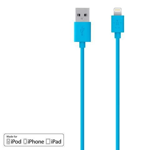 BELKIN Synchronizační Lightning kabel 3m, modrý