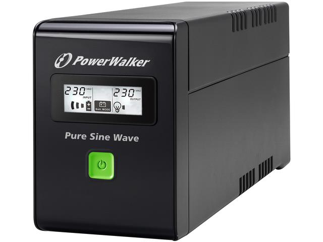 Power Walker LINE-INTERACTIVE 800VA 2X 230V SCHUKO, PURE SINE WAVE, RJ11/45