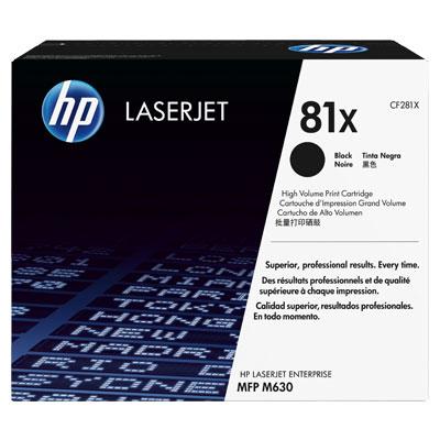 HP CF281X Toner 81X pro LaserJet M603 MFP (25 000str), Black