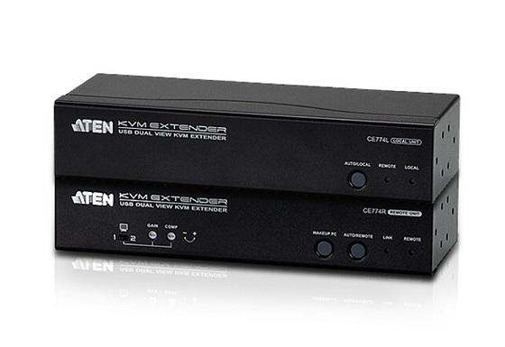 ATEN CE774 USB VGA Dual View Cat 5 KVM Extender (1600 x 1200 na 150m)