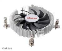 AKASA Chladič CPU AK-CC7129BP01 pro Intel LGA 775 a 115x, 75mm PWM ventilátor, pro mini ITX skříně