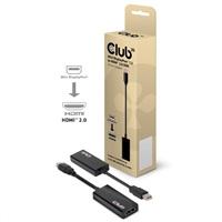 Club3D Adaptér aktivní Mini DisplayPort 1.2 to HDMI 2.0 4K60Hz (M/F)