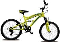"""OLPRAN jízdní kolo BOLT 20"""" (celoodpružené) - černé/modré/žluté"""