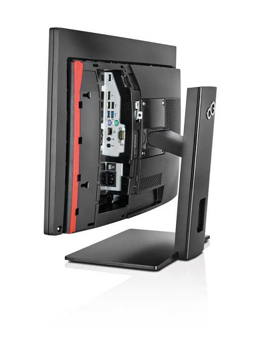 FUJITSU PC AIO K558 23.8 1920x1080 I5-8500T@3.5GHz 6C 8GB 256SSD DVDRW WIFI KAMERA W10PRO Klávesnice KB410+USB mouse