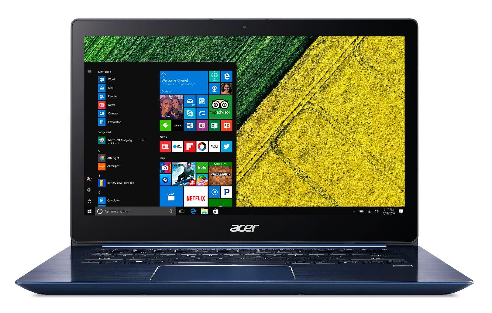 "Acer Swift 3 (SF314-52-384E) i3-7130U/8GB OB+N/A/256GB SSD M.2+N/A/HD Graphics/14"" FHD IPS LED lesklý/W10 Home/Blue celokovový"