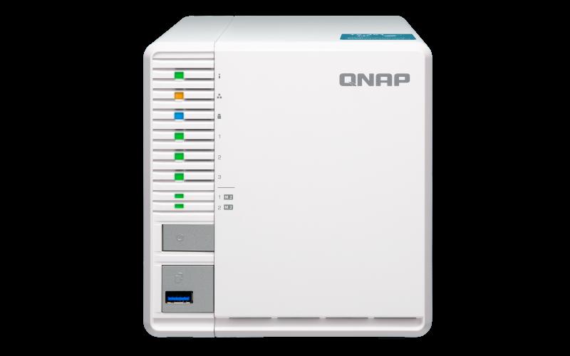 QNAP TS-351-2G (2,58GHz / 2GB RAM / 3x SATA / 2x M.2 NVMe sloty / HDMI 1.4a / 1x GbE / 3x USB porty)