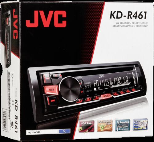 Autorádio JVC KD-R461E, červené